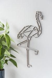geometrischer Flamingo