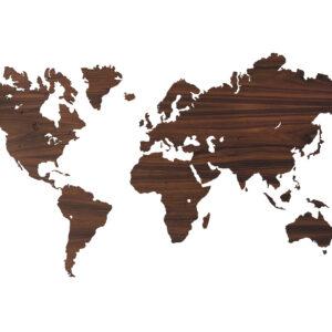 Weltkarte aus Palisander