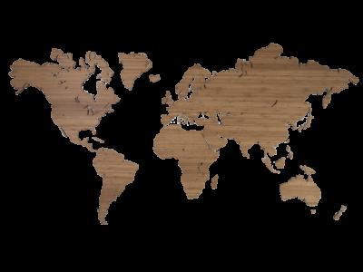 Weltkarte aus Bambus